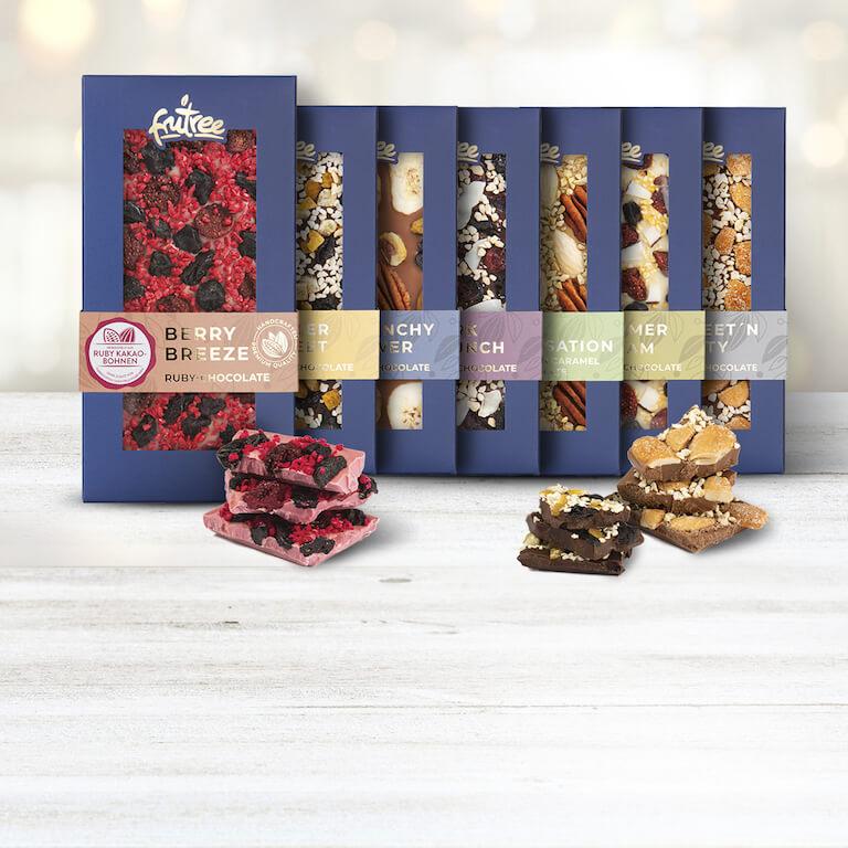 Manufaktur-Schokoladen mit extravaganten Topping | Frutree